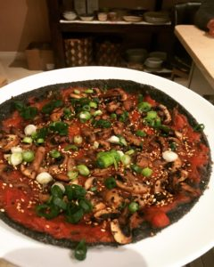 Raw tomato toppings
