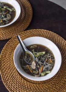 Mushroom and seaweed broth