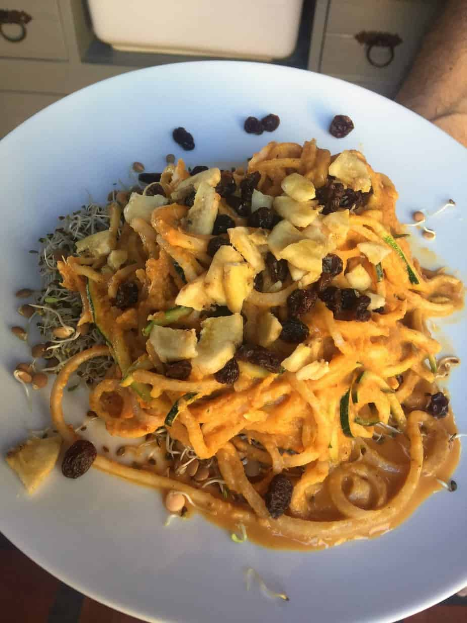 Butternut Noodles with Mango Curry Dressing