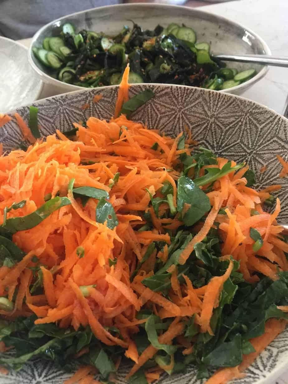 Carrot, Lime Juice and Raisin Salad