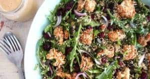 Sprouted Quinoa Cauliflower Salad