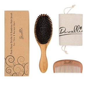 Boar Bristle Hair Brush Set for Women and Men