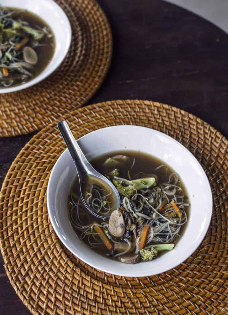 Mushroom and seaweed broth